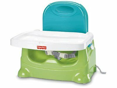 New Fisher Price Healthy Care Booster Seat Green Blue Free Shipping