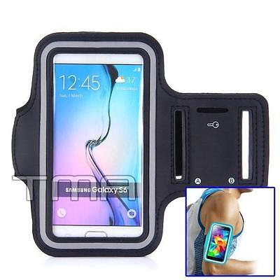 Neoprene Sports Gym Running Arm Armband Case Samsung Galaxy S4 S5 S6 S7 - Black