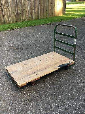 "Steel Bound Platform Truck W/Wood Deck, 30"" x 60"""