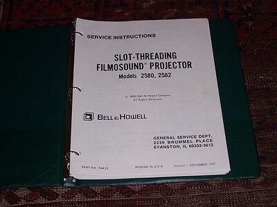 Bell & Howell 16mm Projector models 2580/2582 SERVICE MANUAL