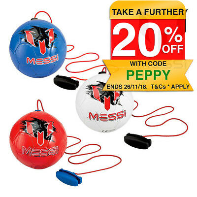 2x Assorted Messi Training System Soccer Ball/Football w/ Strap Attachment Kids
