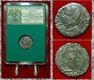 Ancient Roman Empire Coin Commemorative CITY OF CONSTANTINOPLE Winged Victory