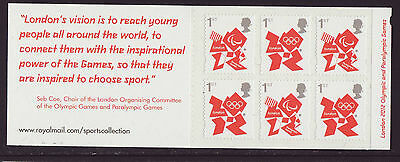 Great Britain 2012 MNH - London Olympic Games 2012, Vision - booklet 6 stamps