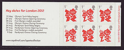 Great Britain 2012 MNH - London Olympic Games 2012, Key dates - booklet 6 stamps