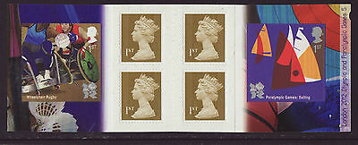 Great Britain 2011 MNH - London Olympic Games 2012 - 5th booklet of 6 stamps