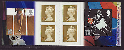 Great Britain 2010 MNH - London Olympic Games 2012 - 2nd booklet, 6 stamps