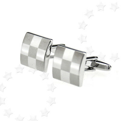 Stainless Steel Men's Cufflinks Wedding Rectangle Cuff links Popular Xmas Gift
