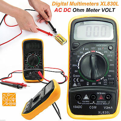 LCD Digital Multimeter Back ground light AC DC Voltmeter Ohmmeter Multi Tester