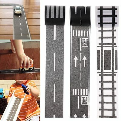 DIY Traffic Railway Road Adhesive Tape Print Stickers Car Track Play Toy Tool AU