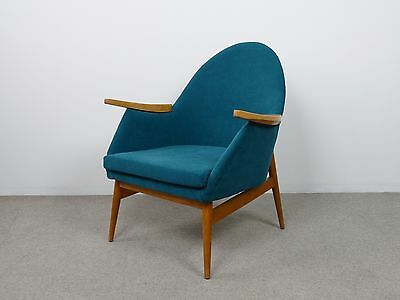 1 of 2 Retro Vintage Danish Lounge  Mid Century Armchair 1960s - 1970s