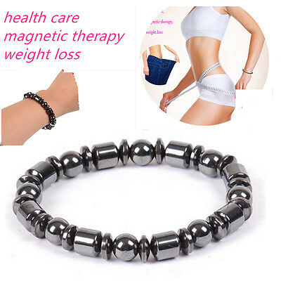 Weight Loss Round Black Stone Bracelet Health Care Magnetic Therapy Bracelet