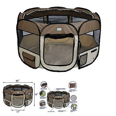"Expawlorer 32"" Puppy Playpen Dog Exercise Kennel Cat Portable Foldable Pen For S"