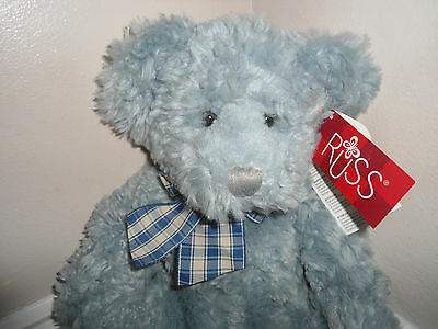 "Russ Berrie Bear 'stormy' 14"" - Tags Attached"