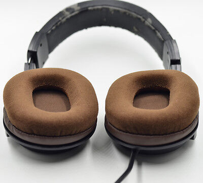 Velour Ear pads cushion for Audio technica ATH-M50 M50S M50X M40 M40S M40X Brown