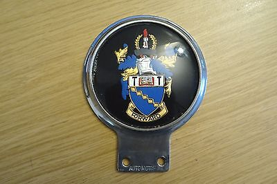 Unidentified Car Mascot Badge - Coat Of Arms For City ?? - Forward.
