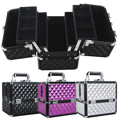 NEW Portable Travel Beauty Case Cosmetics Makeup Vanity Case Nail Box Carry Bag