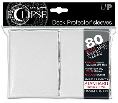 Ultra PRO - White Standard - Pro-Matte Eclipse Deck Protector® Sleeves 80ct
