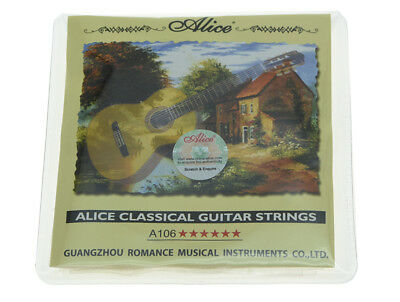 Alice Clear Nylon Classical Guitar String Hard Tension Silver Plated Strings