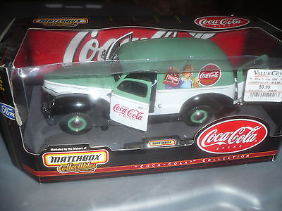 MatchBox Collectible Coca-Cola 1940 Ford Sedan Delivery Truck 1:18 Match Box