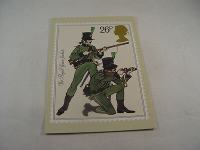 OZ2670 - Postcard - Royal Mail Royal Green Jackets 1st Day Issue Postmarked 1983