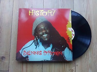 Dennis Brown ‎– History : Live And Love LP 1986 Reggae