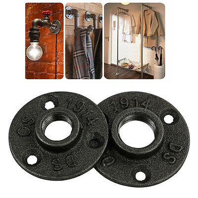 """1/2"""" 3/4"""" 3-Holes Malleable Threaded Floor Flange Iron Pipe Fittings Wall Mount"""