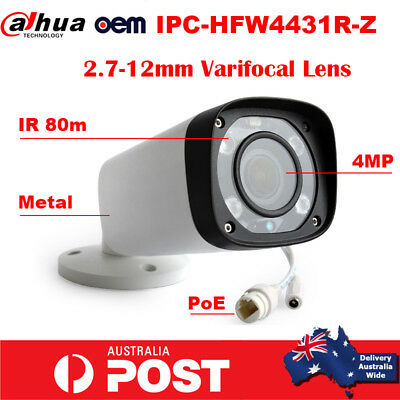 Dahua IPC-HFW4431R-Z H.265 4MP IR 80m 2.7-12mm AutoFocus Lens IP Bullet Camera