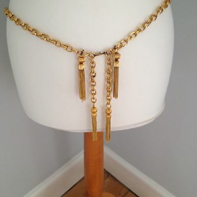 Chanel like gilt chain belt