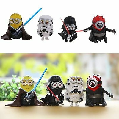 4Pcs/Set Star Wars Action Figure 3.15'' Collection Toys Doll Minion Cosplay Kids