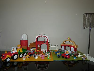 Fisher Price Little People Farm, 2005, With Lots Of Extras.