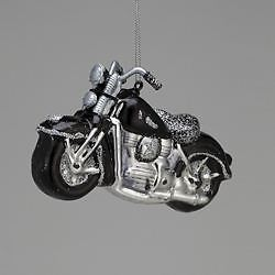 New Kurt Adler Glass Motorcycle Ornament