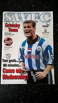 Sheffield Wednesday v Grimsby Town Programme - Coca Cola Cup