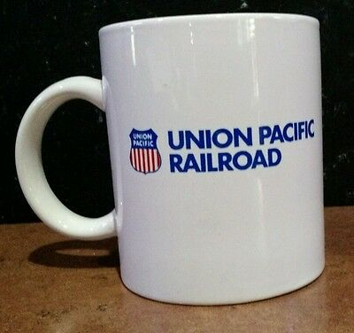 Vintage Union Pacific Railroad Logo Coffee White Mug, Project Cheyenne 1990-1991