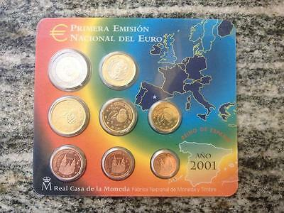 Serie Divisionale Euro 2001 Spagna  Espagne Spain Spanien Spanje Fdc Unc Kms