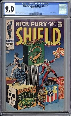 Nick Fury, Agent of Shield 1 CGC 9.0 VF/NM ow/w pages Marvel 1970 Spider-man