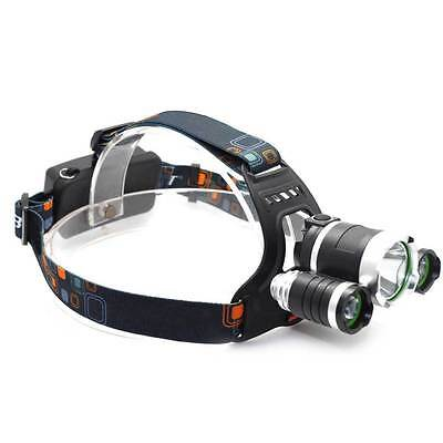 12000LM T6 3x CREE XM-L LED Headlamp Head Torch Rechargeable Outdoor Headlight w