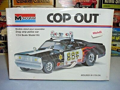 """Monogram """"cop Out"""" Duster Drag Strip Police Car #7504 Amt Mpc 1/24 F/s Model Kit"""