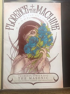 Florence + The Machine Poster San Francisco The Masonic 2015 MINT