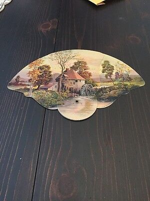 VINTAGE ADVERTISING HAND Expandable FAN Campbell Grain And Seed Co. (J)