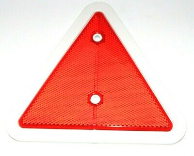 Red Reflector Triangles Pack of 4 White Surround Car Trailer Caravan Tailboard