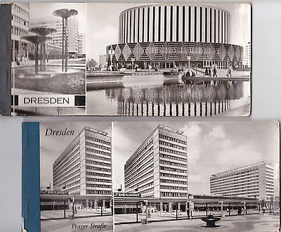 Germany / DDR 1975 - Dresden - lot of 2 books of sheets-photo-postcards