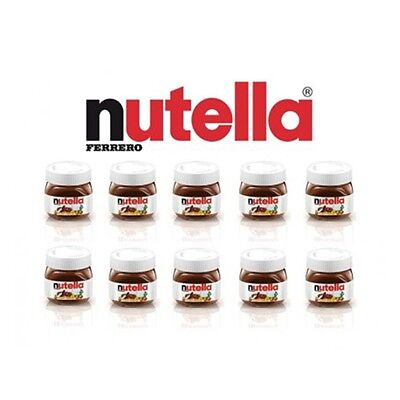 NUTELLA MINI 25g - 40 Bottle Glass Jar Ferrero Hazelnut Chocolate Cocoa Wedding