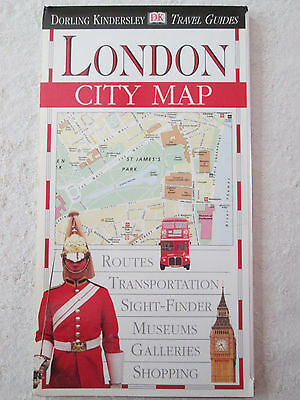 DK Travel City Map ~ LONDON ~ Laminated, Detailed Road & Transportation Routes