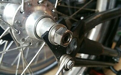 Brompton bike light weight TITANIUM rear wheel nuts for 2 speed weight 5 grams