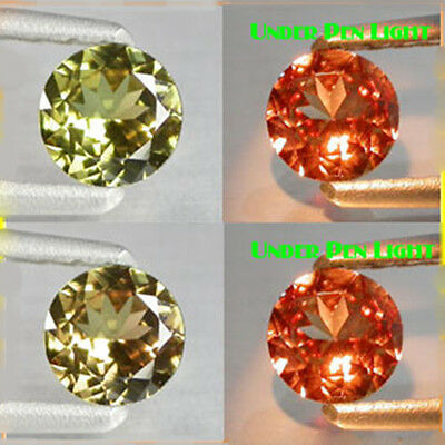 1.40Ct EXTREME Quality Gem - Natural Olive Yellow 2 Red Color CHANGE GARNET MH10