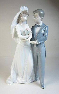Spain Porcelain Lladro Bride Groom #5885 From This Day Forward Wedding Figurine