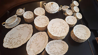 ULTRA RARE PATTERN 1940s H and C Selb Bavaria Heinrich & Co China Set, 91 pc