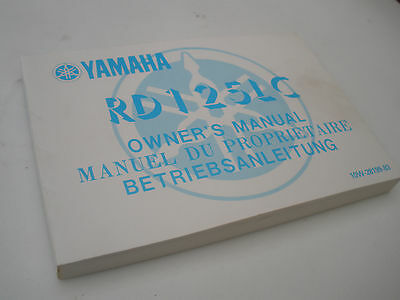 Genuine Yamaha Rd125Lc Rd 125 Lc Owners Manual  Good Condition !