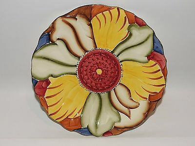 H J Wood Burslem Flower Plate