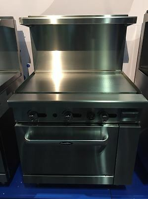 "New Heavy Duty 36"" Range  36"" Flat Griddle W/ Full Oven Stove  Natural Gas Only"